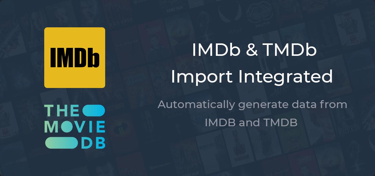 IMDb & TMDb Import Integrated